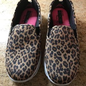 Sketchers Animal Print Slip on Sneakers